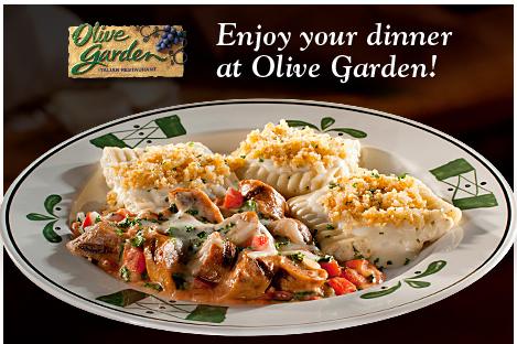 Olive Garden 4 Off Two Dinner Entrees Qpon Junkie
