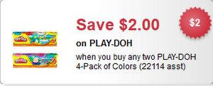 Play-Doh $2/2 via Facebook