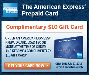 American Express Free $10 Gift Card