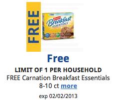 free carnation breakfast essentials