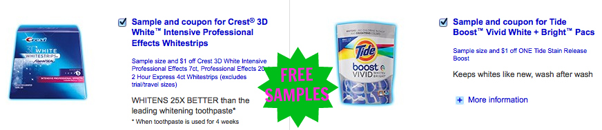 proctor and gamble free samples and coupons