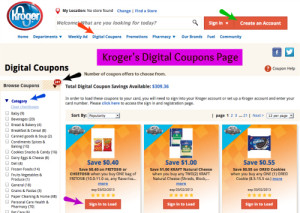 Kroger's Digital Coupons 2