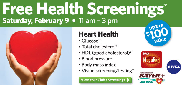 Free Health Screening February 9th