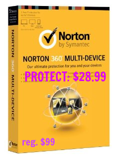Norton 360 Protection Sale $28
