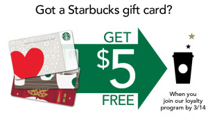 Free Starbucks $5 Gift Card