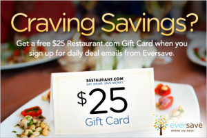 Free $25 Restaurant Gift Card