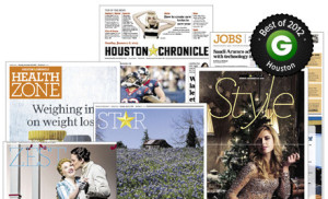Discounted Sunday Papers Houston Chronicle = $0.75 Each!