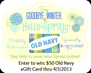 Old Navy $50 eGift Card Giveaway
