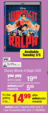 Wrek-It Ralph at CVS $14.99