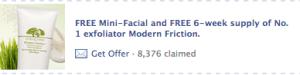 Origins Free Mini Facial Offer