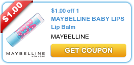 Maybelline Baby Lips Coupon