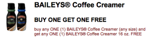 Buy One Get One Free Bailey's Creamer
