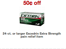 New Excedrin Coupon & Target Scenario $1.90 (24 ct.)