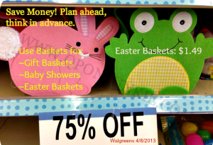 Walgreens Easter Baskets $1.49