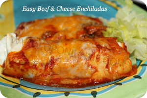 Easy Beef & Cheese Enchiladas