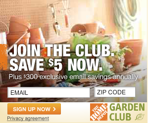 Join The Home Depot Garden Club for Money Saving Coupons
