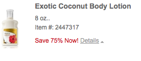 Exotic Coconut Body Lotion