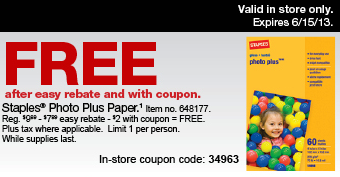 Staples Weekly Ad Free Photo Paper