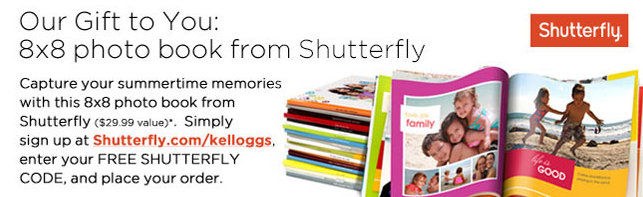 Kellogg's Family Rewards Free Shutterfly Book