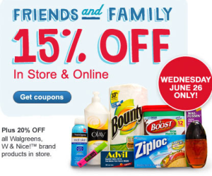 Walgreens Friends and Family