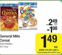 Kroger General Mills Cereal