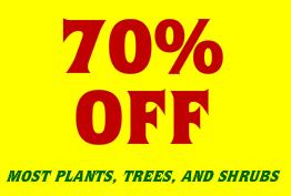 Houston Garden Center Sale 70% Off