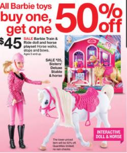 Barbie Sale at Target