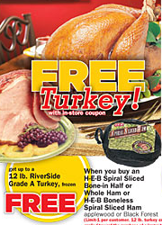 Free Turkey with Ham purchase