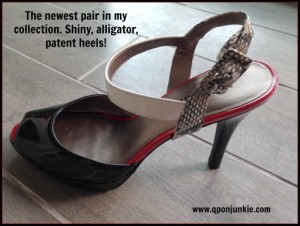 Patent Heels with Alligator