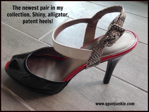 Patent Heels with Alligator