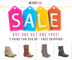 JustFab BOGO Boot Sale
