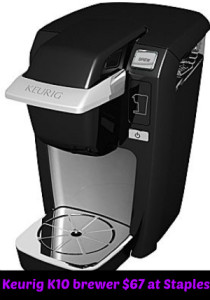 keurig k10 brewer at staples