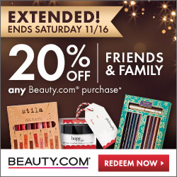 Beauty.com Friends and Family Sale
