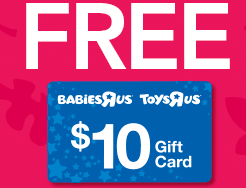 Free Toys R Us gift card