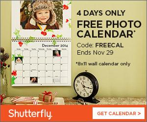 Free 12 Month Wall Calendar
