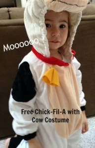 ree Chick-Fil-A with Cow Costume