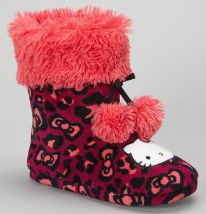 Hello Kitty Girls boot slippers