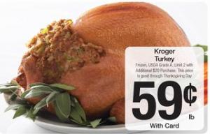 Kroger Turkey $0.59 lb.