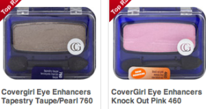 Six CoverGirl items