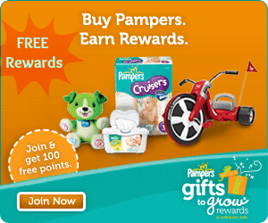 PAMPERS GIFTS TO GROW REWARDS CODES
