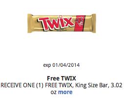 Free Twix King Size