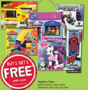 Hasbro Toy Sale B1G1 Free
