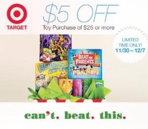 Target Shopkick $5 off $25 Toys