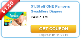 $1.50 off ONE Pampers Swaddlers Diapers