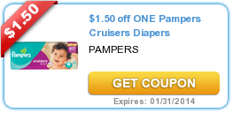 $1.50 off ONE Pampers Cruisers Diapers