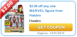$2.00 off any one MARVEL figure from Hasbro