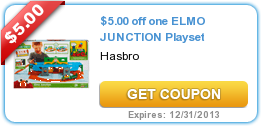 $5.00 off one ELMO JUNCTION Playset