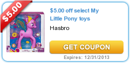 $5.00 off select My Little Pony toys