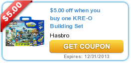 $5.00 off when you buy one KRE-O Building Set