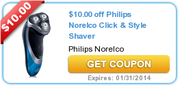 $10.00 off Philips Norelco Click & Style Shaver